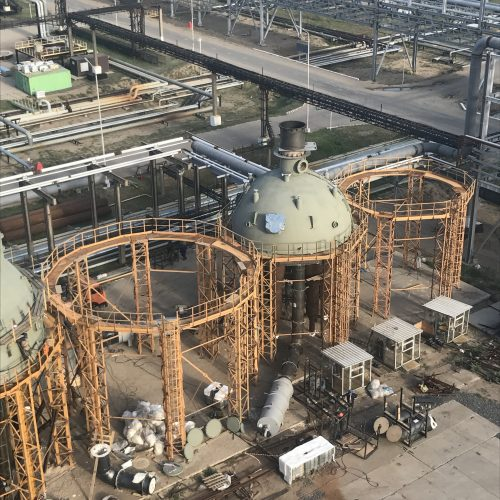 Lining of Reactor Р-201 and Regenerator Р-202 Upper Heads Dried Out at Pavlodar Oil Chemistry Refinery